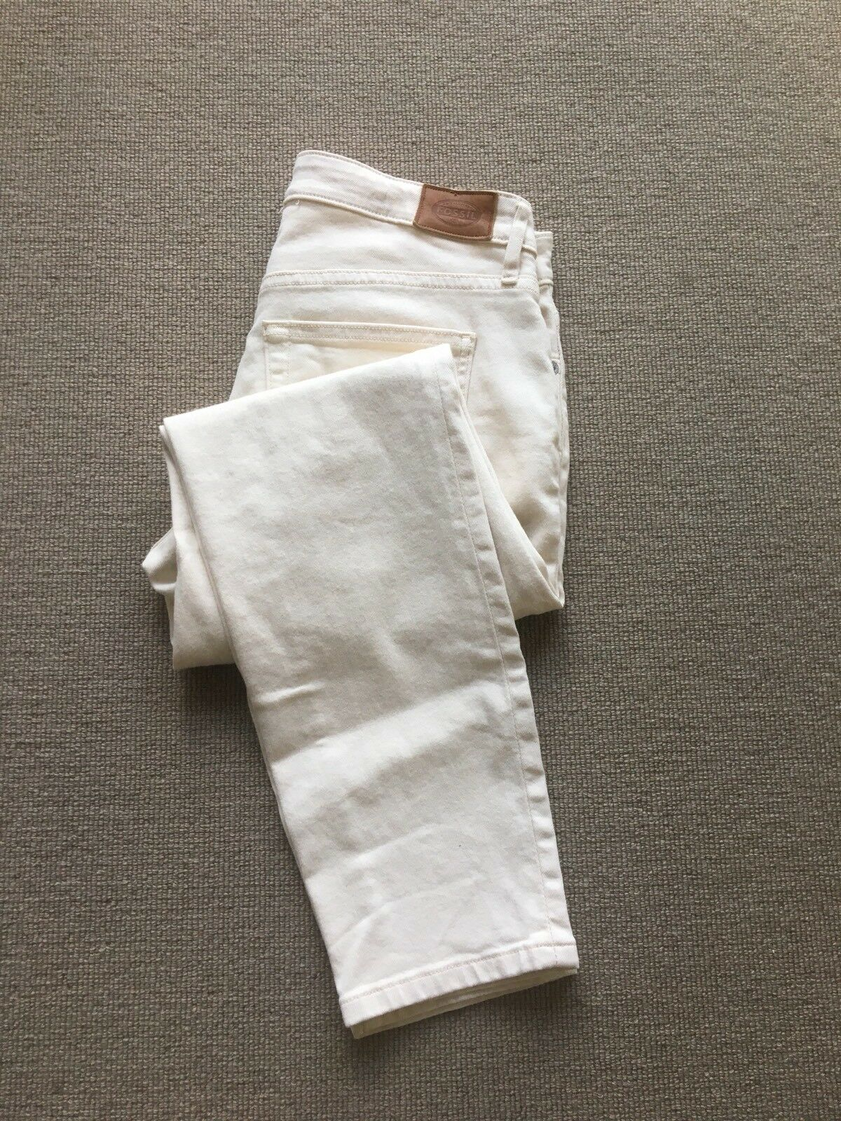 Cream Jeans Waist 27. Skinny. Fossil RRP