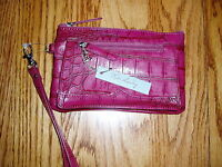 Kate Landry Wine Leather Wristlet Very Classy