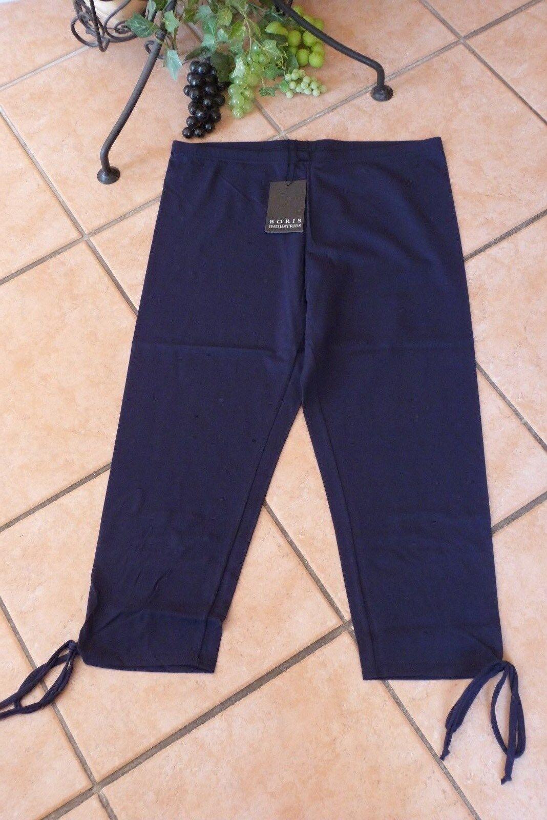BORIS INDUSTRIES 7 8 Leggings 44 46 (3) NEU marineblue Bänder LAGENLOOK Stretch