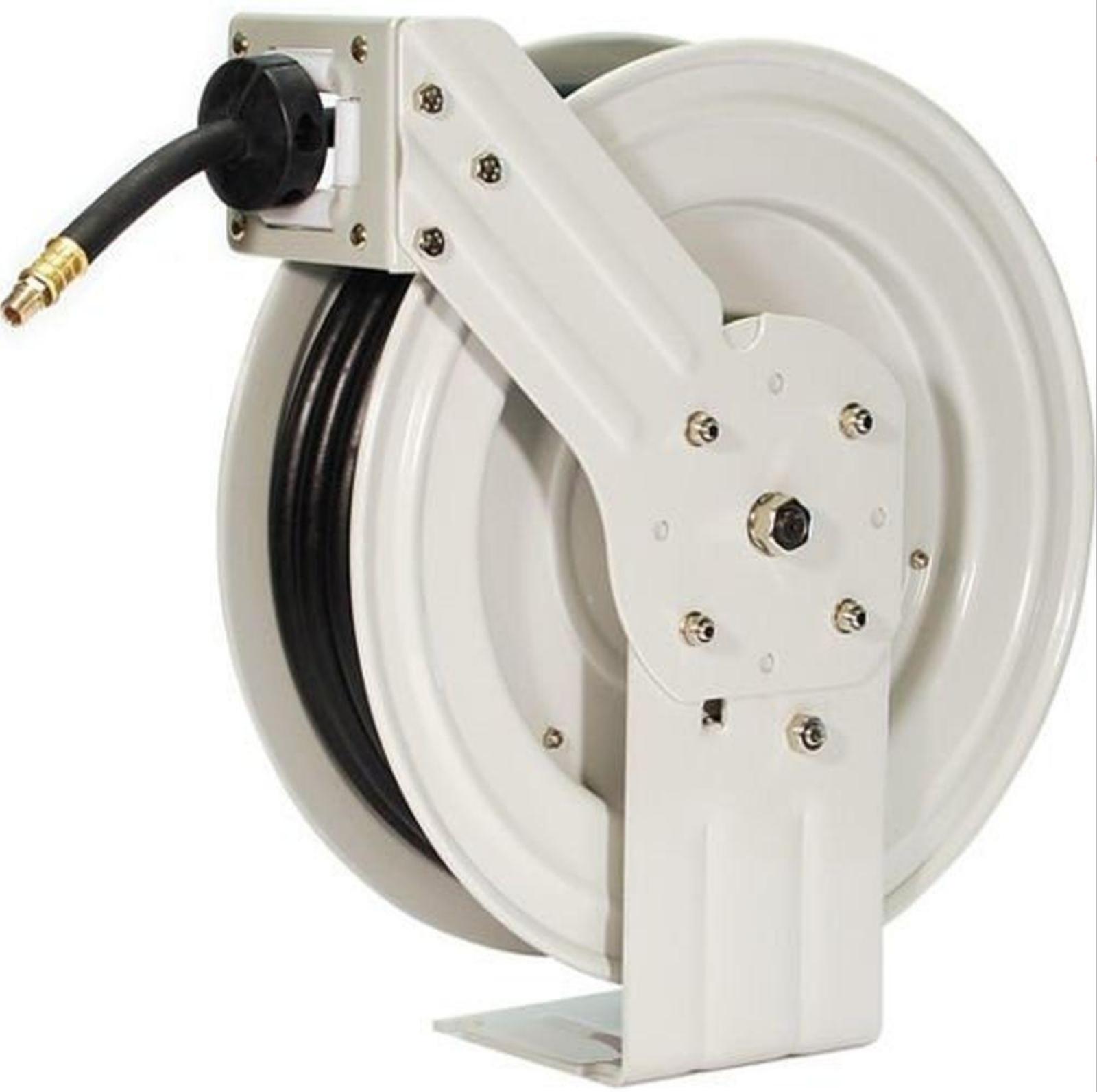 Retractable Air Hose Reel Industrial Grade Auto Rewind Pneumatic Garage Tool 50'