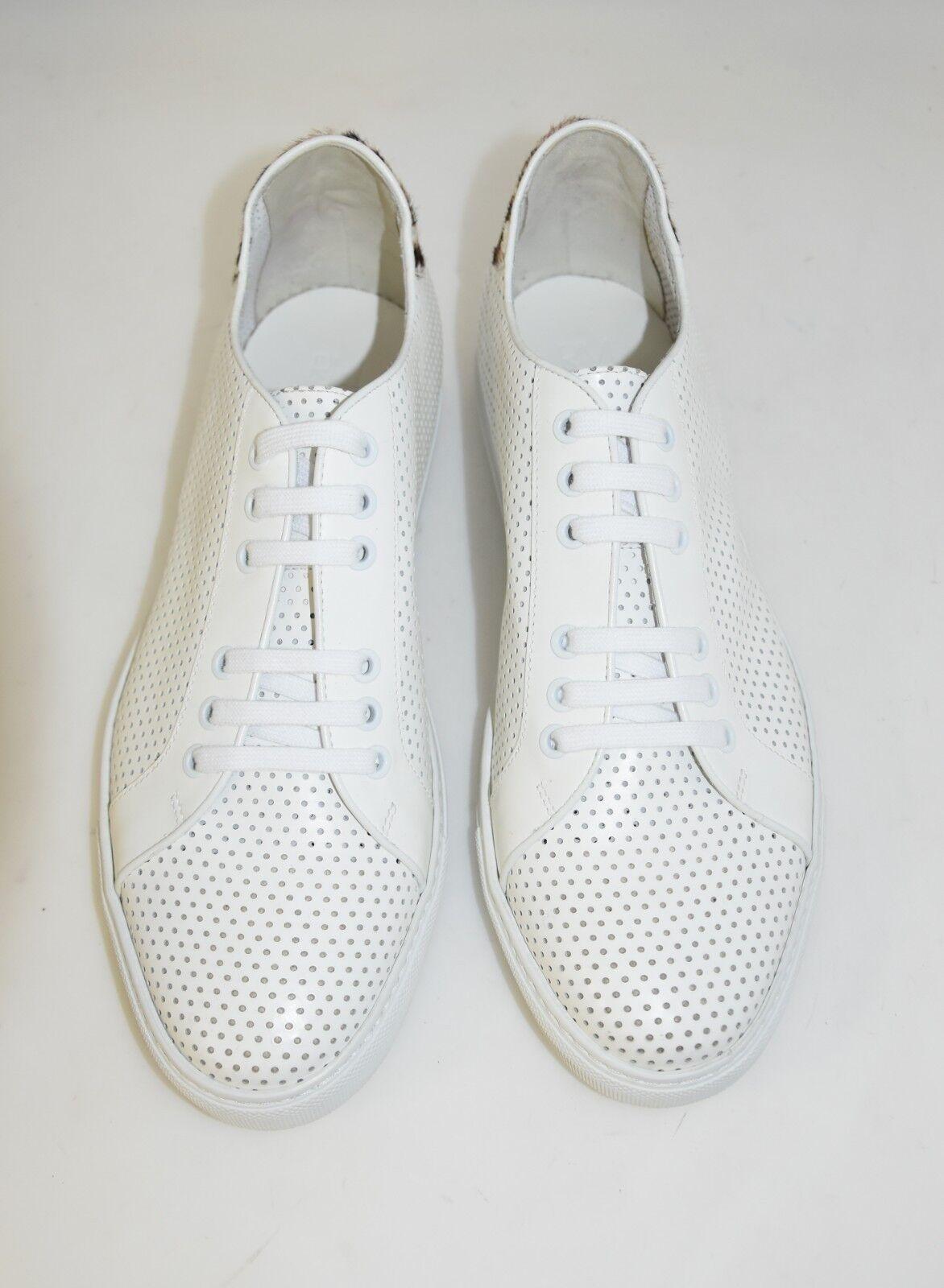 MAN-42eu-8eu-9usa-SNEAKER-WHITE - LEATHER - VITELLO BIANCO - MAN-42eu-8eu-9usa-SNEAKER-WHITE RUBBER SOLE acede4