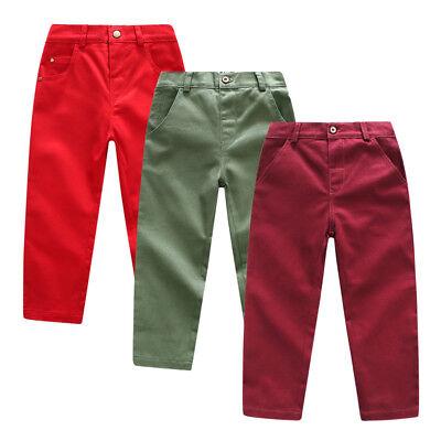 Toddler Baby Boy Gentleman Longs Pocket Trousers Long Pants Clothing Cotton L