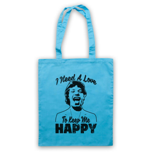HAPPY MICK JAGGER ROLLING UNOFFICIAL STONES NEED A LOVE TOTE BAG LIFE SHOPPER