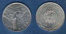 10 Euro Série des Régions 2010 Drapeaux Argent SUP - Alsace