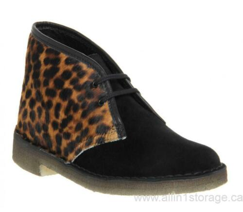 99 Desert estilo Clarks 7 leopardo Nuevo Boot £ Rrp Uk Originals Womens Estampado 4w7ZTB