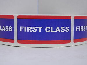Image is loading FIRST-CLASS-USPS-1x2-Stickers-Labels-Mailing-Shipping-