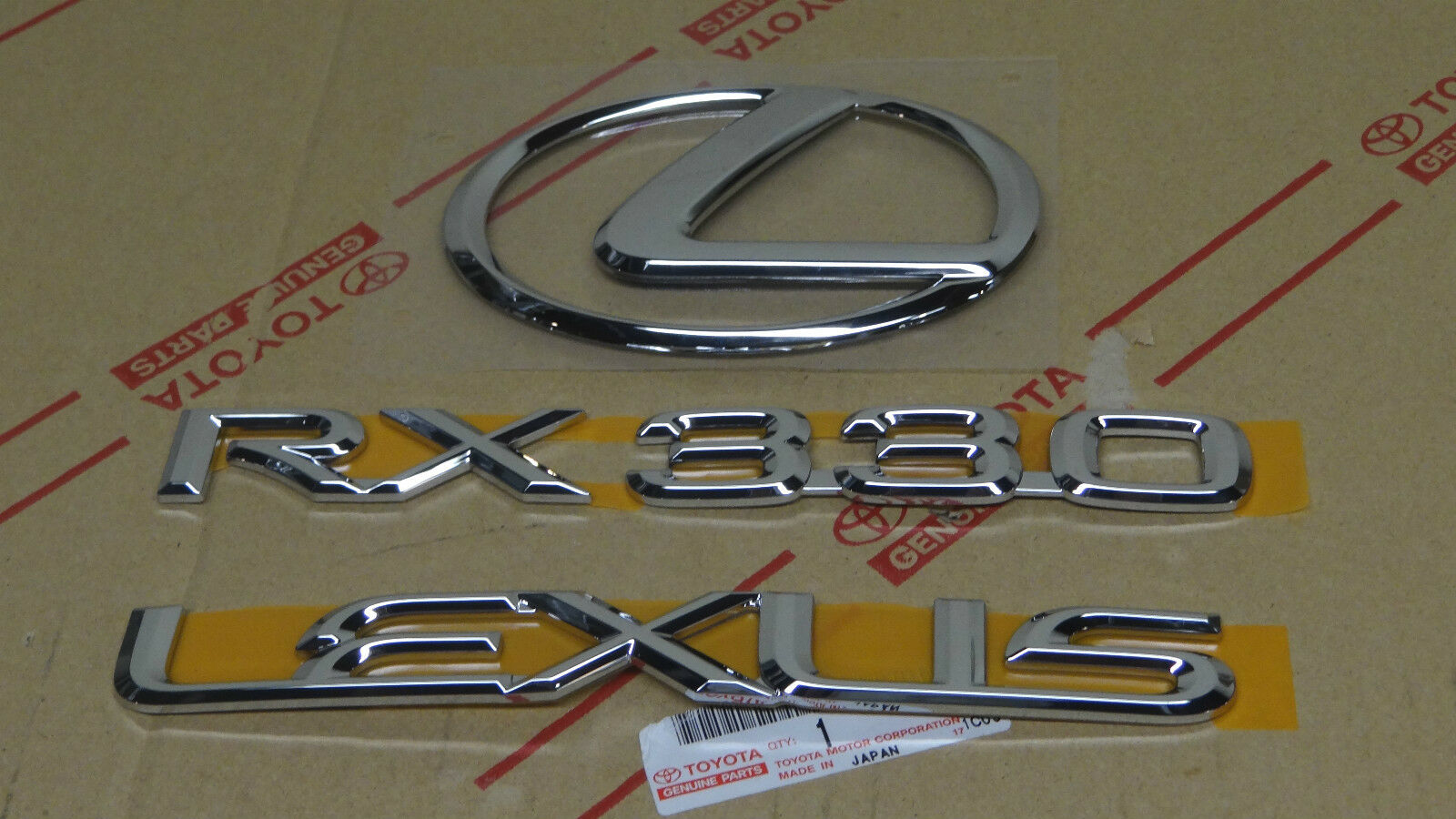 Buy 04 06 New Lexus Rx330 Rear Chrome Trunk Emblem Kit