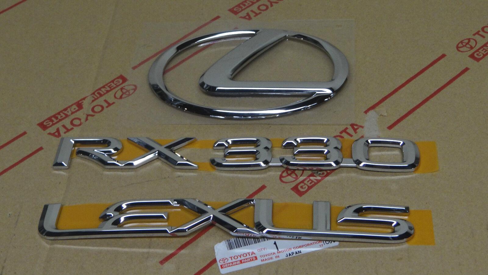Buy 04 06 New Lexus Rx330 Rear Chrome Trunk Emblem Kit