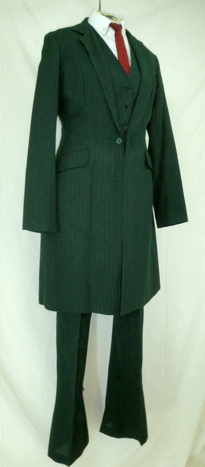 Reed Hill  Saddleseat Ld 3p suit Hunter Green Pin Wool Blend size 14  sale