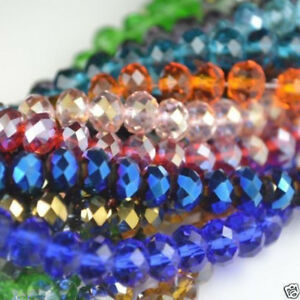 FACETED-RONDELLE-CRYSTAL-GLASS-BEADS-PICK-COLOUR