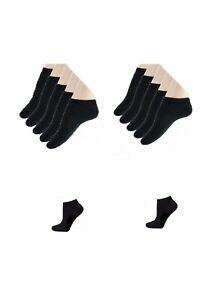 Lot de 3 socquettes coton sport homme femme mixte noirNoir