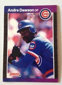 CARTE BASEBALL - ANDRE NOLAN DAWSON OF CUBS / DONRUSS 89 MLB