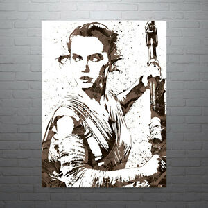 Star Wars Rey Poster FREE US SHIPPING