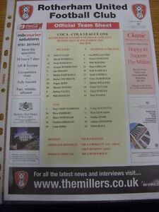 26-12-2006-Colour-Teamsheet-Rotherham-United-v-Oldham-Athletic-Thanks-for-view