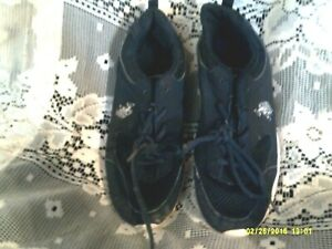 Mens & youth US Polo Assn. sneakers Sz 6 UK 5 Eur 38.5 BOAT shoes lace up blk