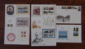 South-Africa-8-x-FDC-1978-1982-Roses-Navy-Orchids-Volschenk-Paintings-Zulu-M-S