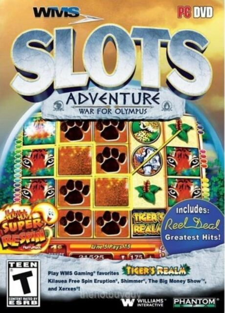 WMS Slots Adventure: War for Olympus (PC, 2013) NEW
