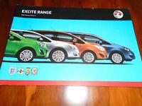 Vauxhall Excite range brochure 2012 models Ed 1