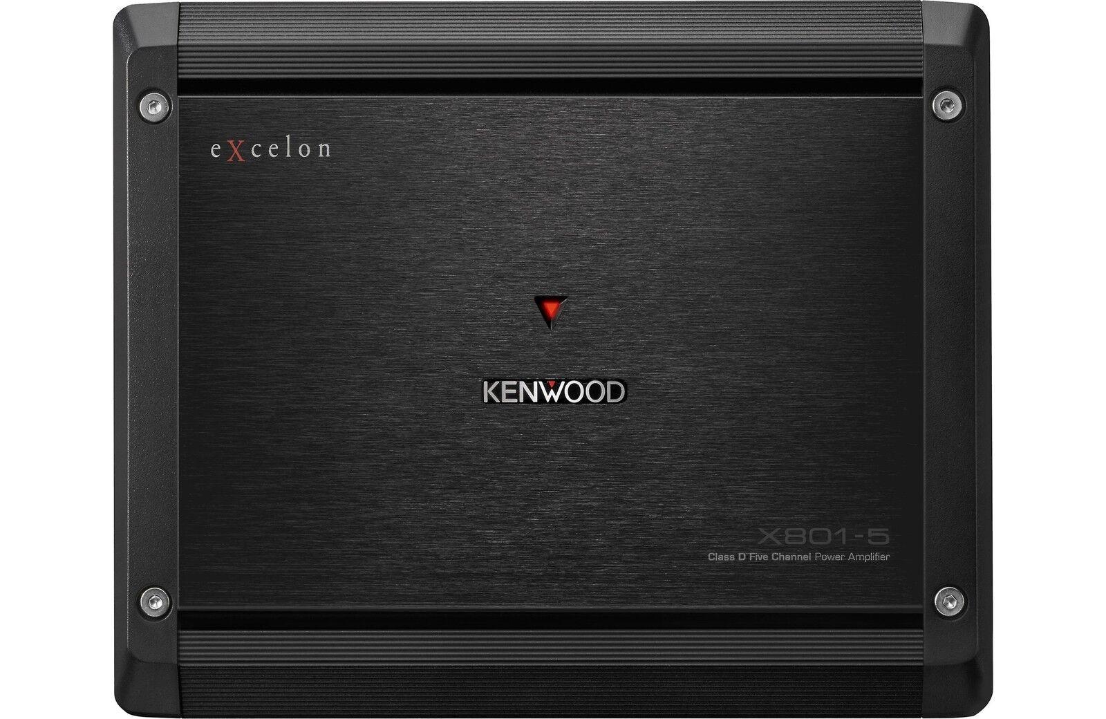 Kenwood Excelon X801 5 Channel Car Amplifier Ebay Rockford Fosgate R600x5 600w With Wiring Kit