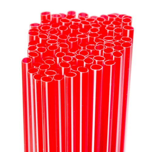 USA SELLER   Red & White Cocktail Straw/Slim Stir 5 (1000) Free Ship US Only