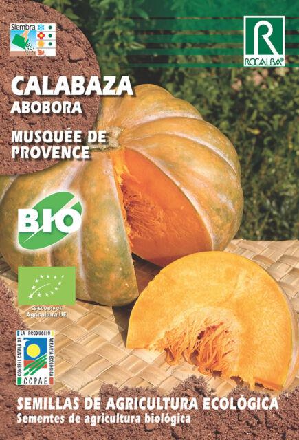 Semillas ECOLOGICAS Calabaza Musquee de Provence , Sobre 3 gr.