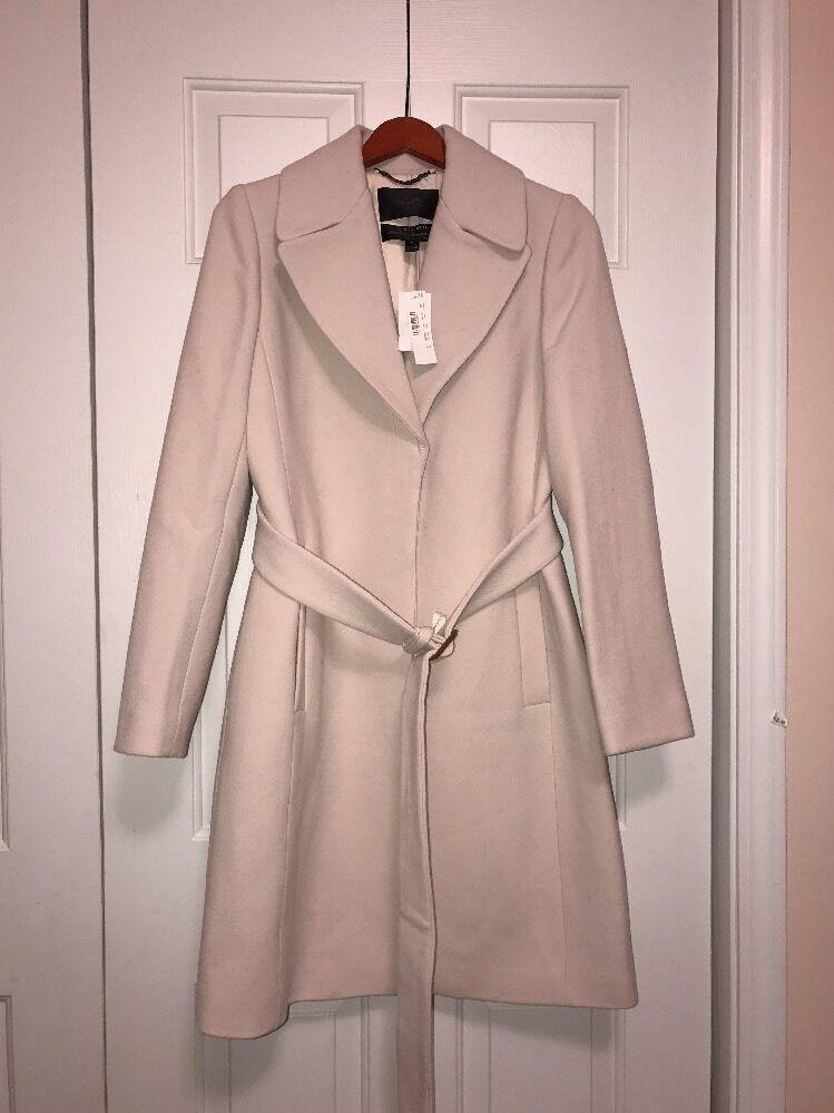 J.Crews dubbla -plagg rapade trench coat  425, storlek 8, Ivory, Såld ut