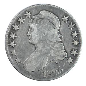 1825 Capped Bust Half Dollar Fine Condition