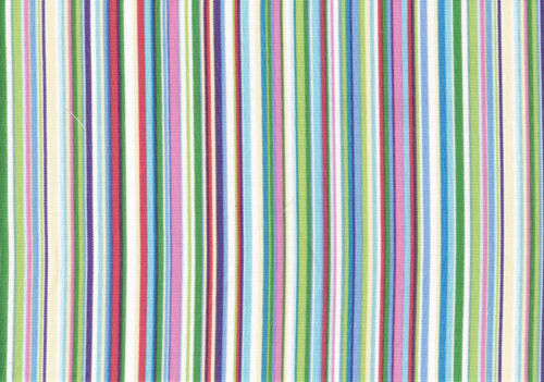 PKaufmann Fabric Blue Pink Red Green White Striped Cotton Drapery Upholstery