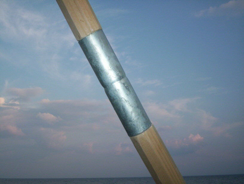 Two Complete Wooden Tent Poles   Tipi Poles