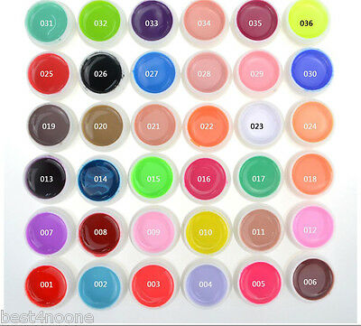 New 36 Pure Color UV Gel Nail Art DIY Decoration Nail Manicure Gel Nail Polish