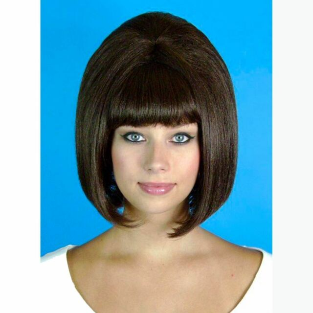 1960/'s Deluxe Beehive Short Bob Hairs Vintage Retro High Quality Fibre Party Wig