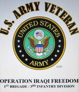 OPERATION IRAQI FREEDOM*1ST BRIGADE / 3RD INFANTRY DIVISION* W/ARMY EMBLEM*SHIRT