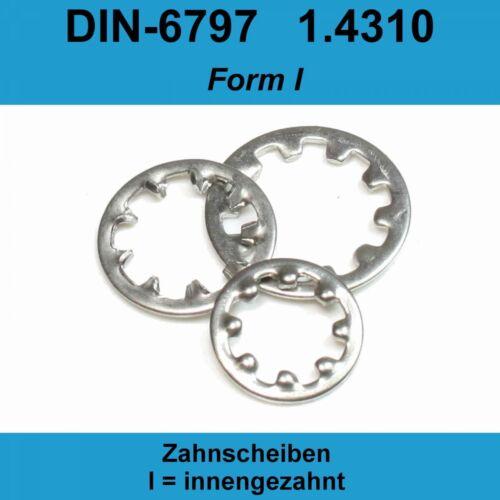 12,5 DIN 6797 Zahnscheiben A2 Edelstahl Form I innengezahnte IZ Federstahl J M12