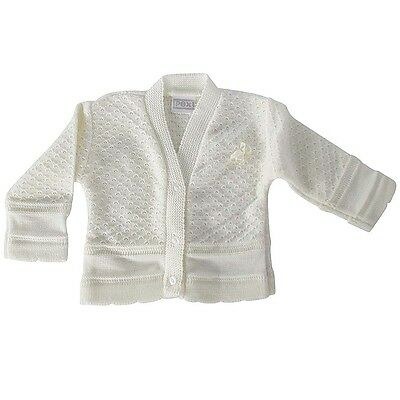 Pex Baby knitted Spanish style bolero pink and cream