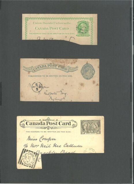Canada 1886 ,1891 , 1897, Pastal Stationery Postcard  Queen Victoria (3)