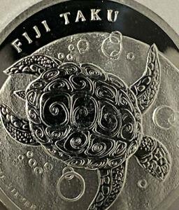 2012-FIJI-TAKU-99-9-Pure-SILVER-1-Turtle-1-2-oz-New-Zealand-Mint-Low-Mint