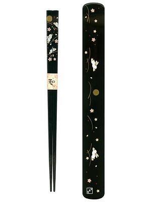 Black Japanese Travel Chopsticks with Case Bunny S-3685