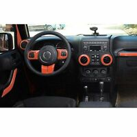 Orange Auto Accessories Interior Trim For Jeep Wrangler Abs Decorative Cover L