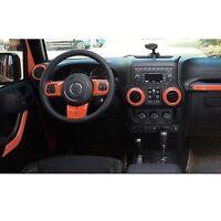 Orange Auto Accessories Interior Trim For Jeep Wrangler Abs Decorative Cover L