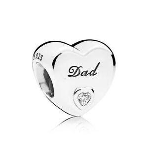 PANDORA-Charm-Dad-Herz-796458CZ