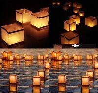 Lanterne Flottante Asiatique, Cube Blanc 15cm, Livraison Gratuite