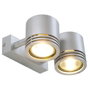 Intalite-BARRO-2-pared-y-lampara-techo-redondo-plateado-gris-2x-GU10-2x
