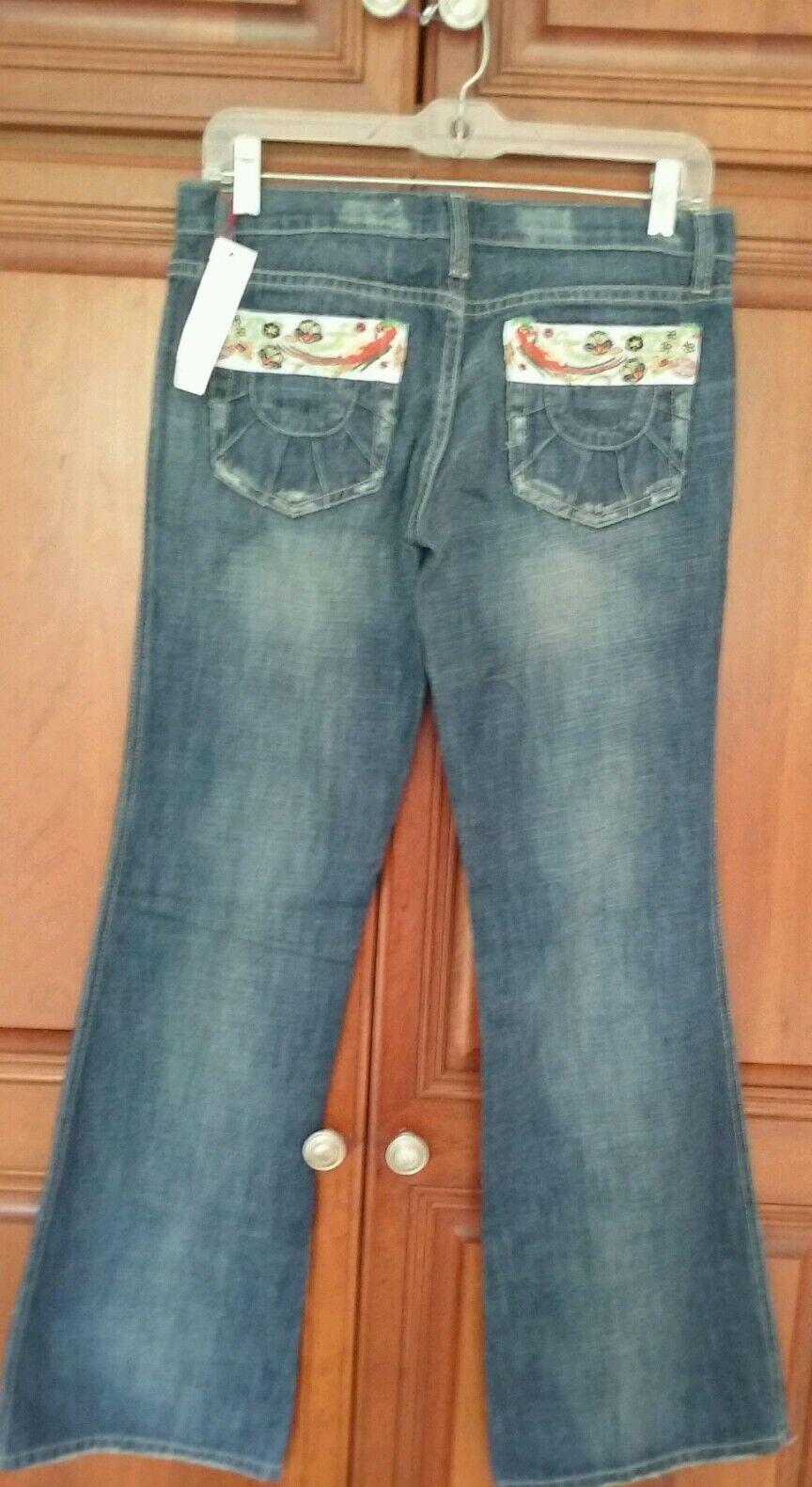 Joe's Jeans Embroiderot Flowers damen Pants 27 X 32 NWT