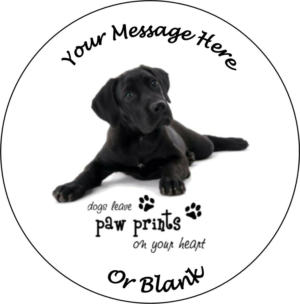 """Personalised Husky Dogs with Quote 7.5/"""" Edible Wafer Paper Cake Topper puppy"""