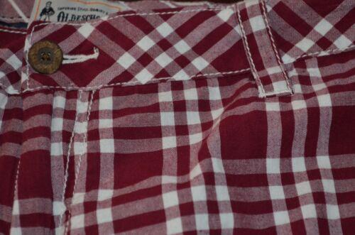 Neuf avec étiquettes pour Homme Old School BRAND SHORT carreaux plaid Marron 100/% coton