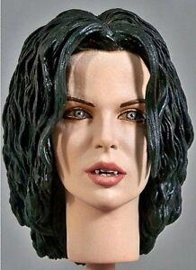 1: 6 tête personnalisée de Kate Beckinsale comme Selene From Underworld (bouche ouverte)