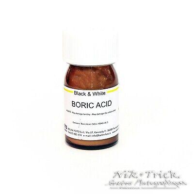 BelliniFoto Boric Acid ~ 50g ~ Highest Grade Raw Photo Chemistry