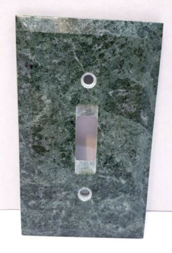 Green Genuine Marble Single Light Switch Plate Cover Wallplate  4.5 Inches