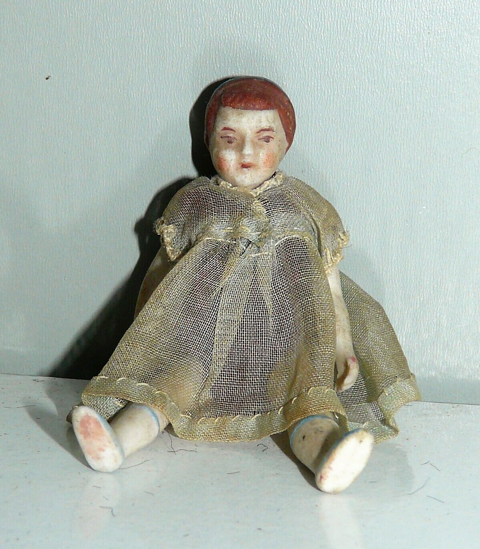 Piccola BAMBOLA antica in porcellana cm 8   bambolina muneca doll