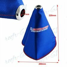 Blue Racing Fabric For Ms Mazdaspeed Shift Knob Shifter Boot Cover Mtat New